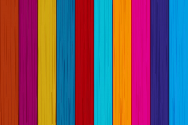 Colored background of wooden boards.