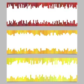 色付きのバナーの背景テンプレートのデザインセット - 白い背景に縦線から水平ベクトルグラフィック