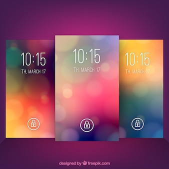 Colored bokeh mobile wallpapers