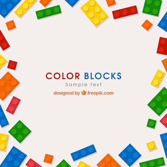 Colored bricks background