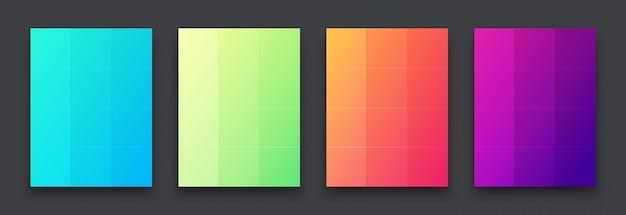 Цветные яркие плакаты на стене