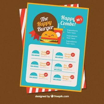 Colored burger menu template