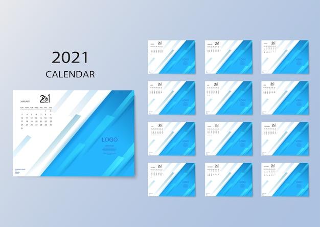 Цветной календарь с месяцами на 2021 год.