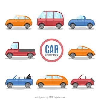 デザインの様々な色の車