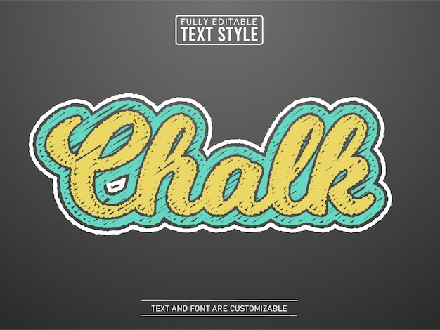 Colored chalk text font alphabet scribble rough on board text effect