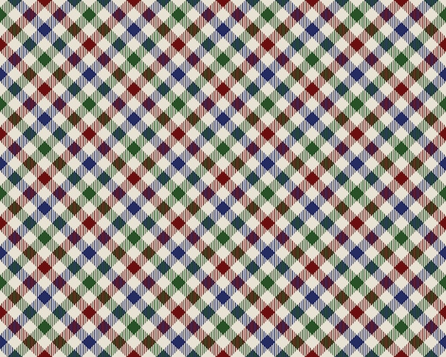 Цветные проверил диагональная текстура ткани бесшовные модели