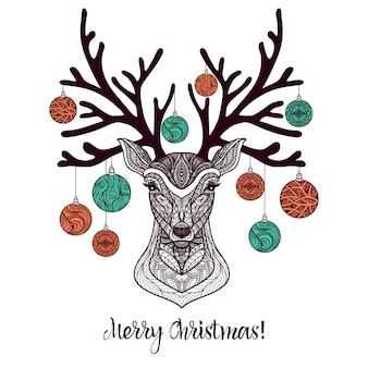 Colored christmas deer