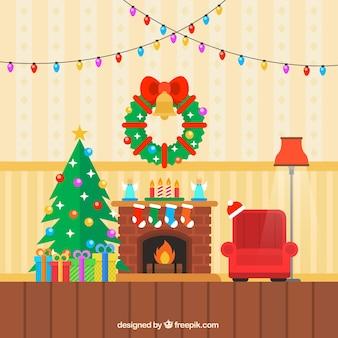 컬러 크리스마스 거실