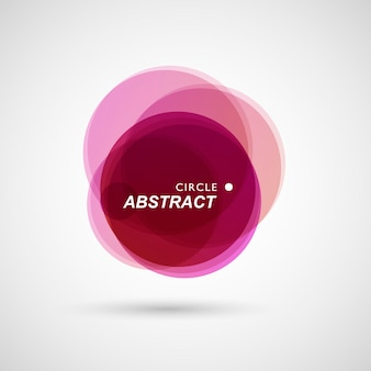 Colored circles collected in abstract composition background
