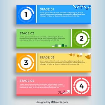 Infographic 배너의 컬러 컬렉션