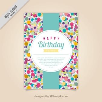 Colored confetti birthday card
