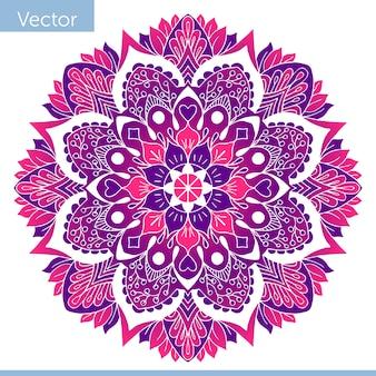Colored decorative mandala