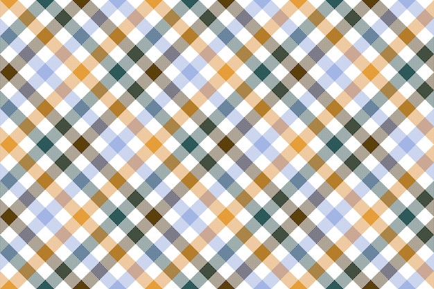 Colored diagonal check seamless pattern
