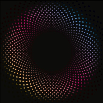 Colored dots 3d background pattern
