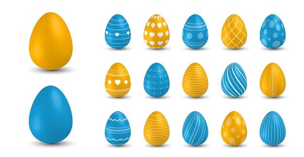 컬러 부활절 달걀. 3d 부활절 달걀, 봄 휴가 우크라이나 전통 기호.
