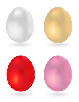 색된 달걀 3d 아이콘 세트