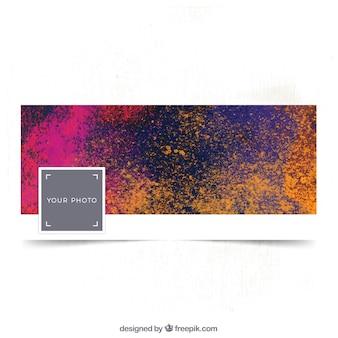 Colored facebook artistic cover