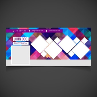 Colored facebook cover in abstract style
