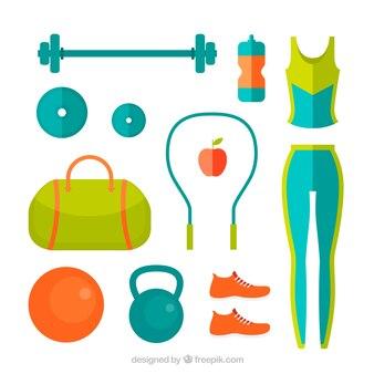 Цветные женский фитнес оборудование