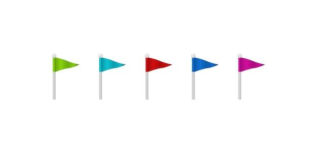 Цветные флаги.