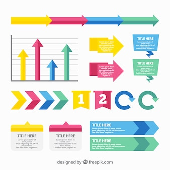 Colored flat infography with graphics