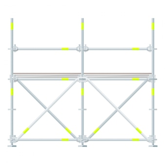 Colored flat style scaffolding