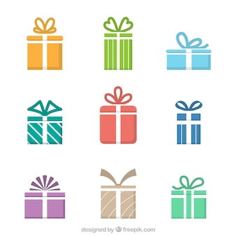 Colored gift icons