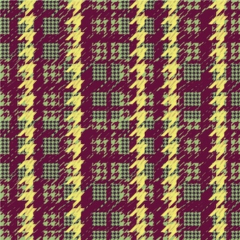 Colored houndstooth pattern