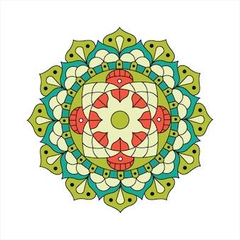 Colored indian mandala