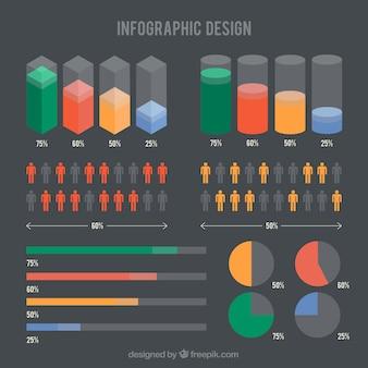 Colored infographic design