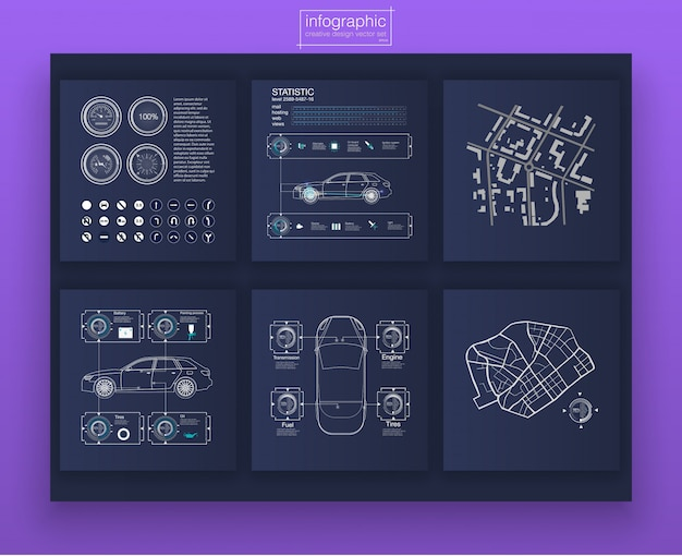 Colored infographic digital illustration. dashboard theme creative infographic