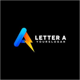 Цветное письмо вектор дизайна логотипа