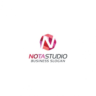 Colored letter n logotype