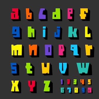 紙に切った色文字