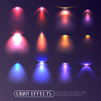 Colored light effects transparent set