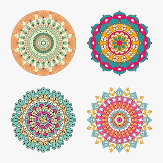 Colored   mandala set