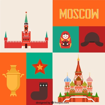 Colored moscow elements