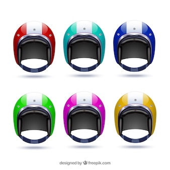 Colored motorcycle helmet protection