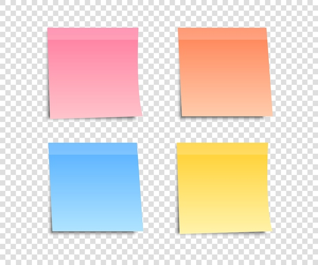 Colored note stickers set for your message.