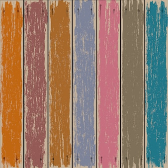 Colored old wooden fence background