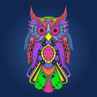 Colored owl artwork