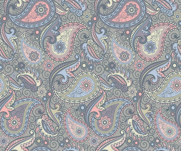 Colored paisley pattern