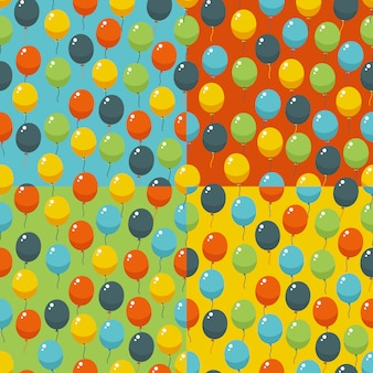 Colored party baloons pattern. birthday, wedding, anniversary, jubilee, rewarding and winning invitation . seamless backgrounds.