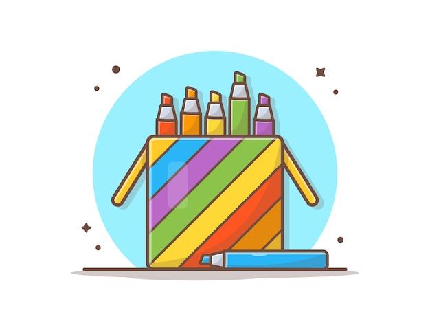 Colored pencils in case