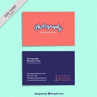 着色された写真スタジオカード