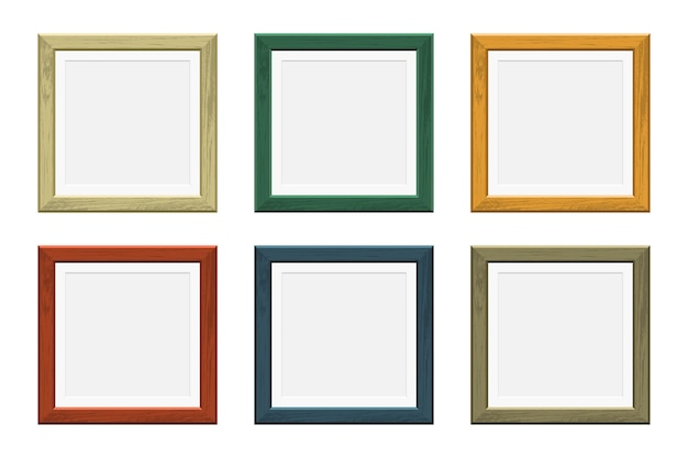 Colored picture wooden frame
