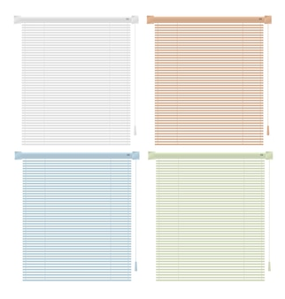 Colored plastic window blinds icon