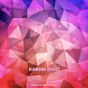 Colored polygonal diamond background