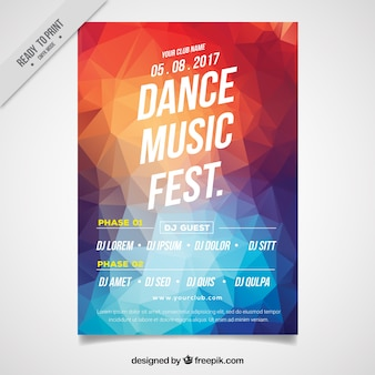 colored polygonal party brochure