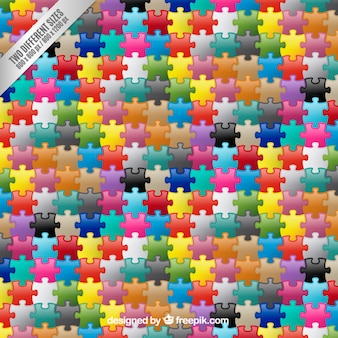 Colored puzzle pieces background